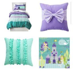 Purple And Teal Girl Room Mermaid