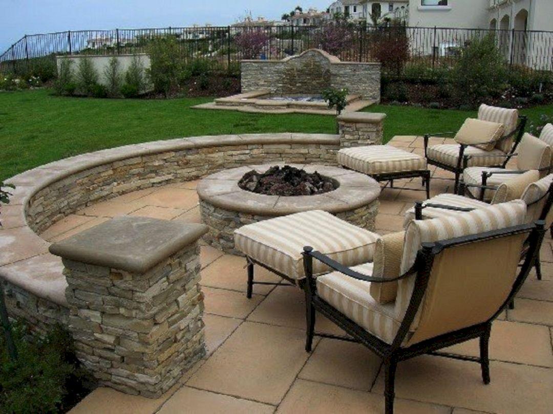 Backyard Stone Patio Design Ideas (Backyard Stone Patio ... on Small Backyard Stone Patio Ideas id=88873