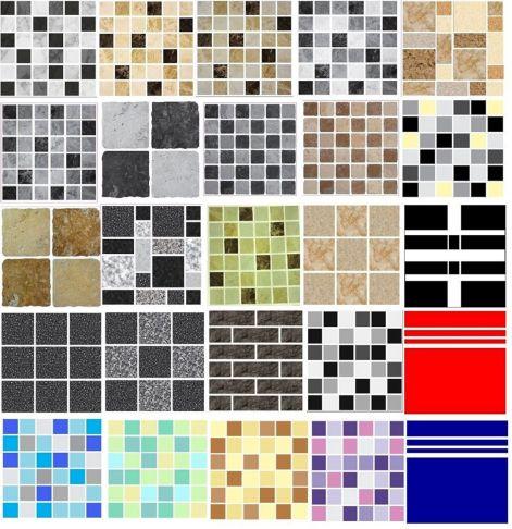 Bathroom Tile Decals Stickers