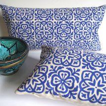Blue Moroccan Pattern Pillows