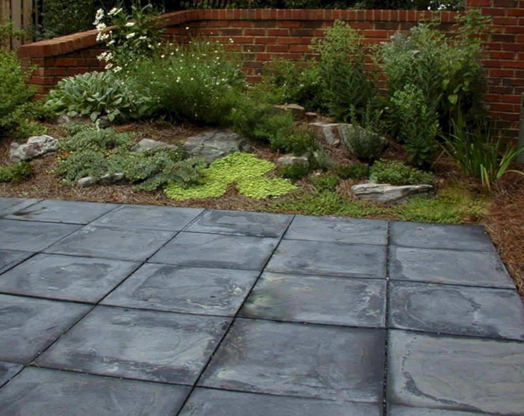 Concrete Square Paver Stone Patio (Concrete Square Paver ... on Square Concrete Patio Ideas  id=11600