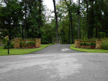Driveway Entrance Landscaping Idea