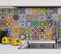Mexican Talavera Tile Kitchen Backsplash