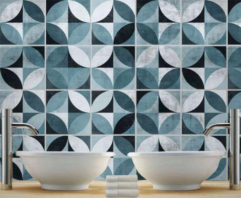 Mid Century Modern Tile Decal