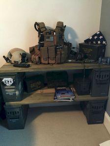 Military Bedroom Decorating Idea
