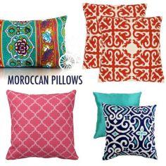 Moroccan Inspired Throw Pillows