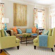 Orange And Green Living Room Ideas