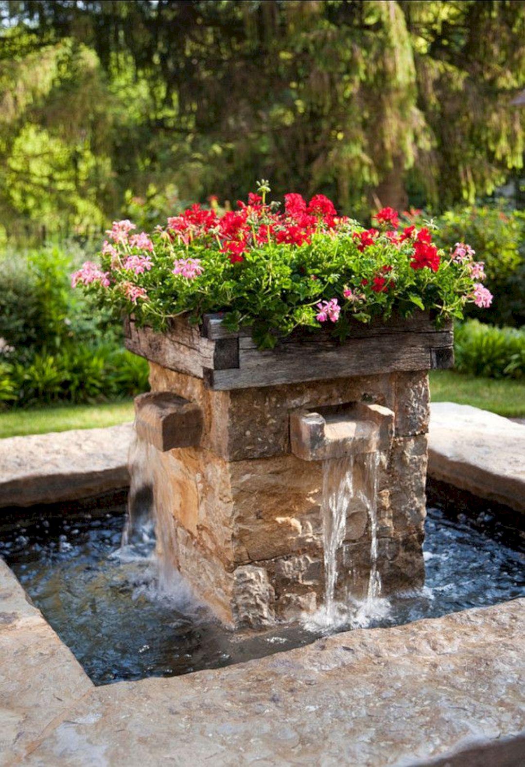 Beautiful Garden Fountains Ideas (Beautiful Garden ... on Home Garden Fountain Design id=69377