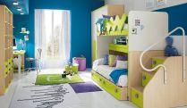 Blue Green And Purple Kids Room Ideas