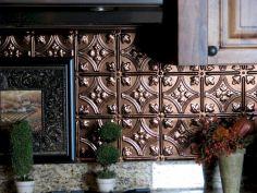 Ceiling Tin Tile Backsplash For Kitchen