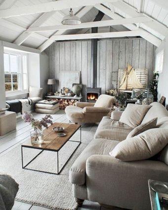 Cozy Beach Cottage Living Room