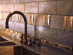 Kitchen Backsplash Metal Tiles