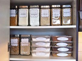 Kitchen Pantry Organization Idea