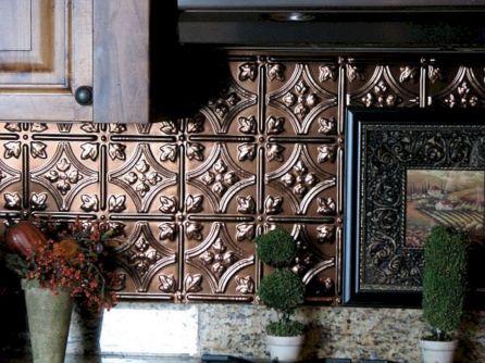 Pressed Tin Backsplash Tiles For Kitchen