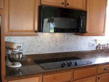 Punched Tin Kitchen Backsplash