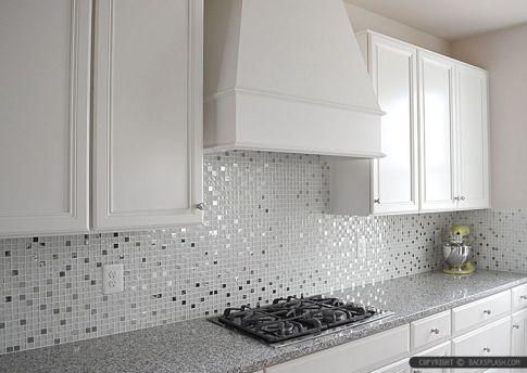 White Glass Tile Kitchen Backsplash Ideas
