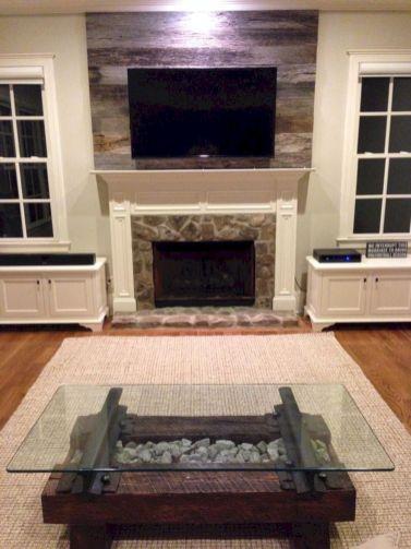 White Wood Fireplace Surround Ideas 3
