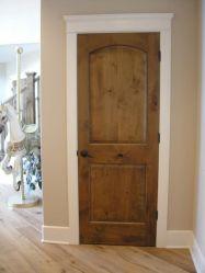 Alder Door With White Trim