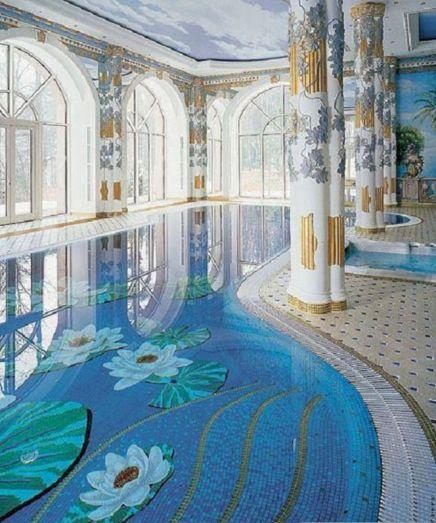Beautiful Indoor Pool Mosaics