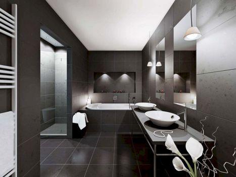 Black Minimalist Bathroom Design