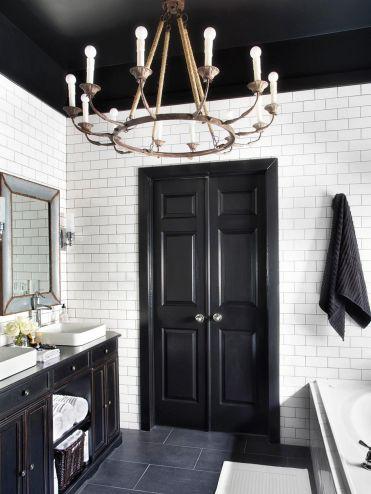 Black And White Master Bathroom