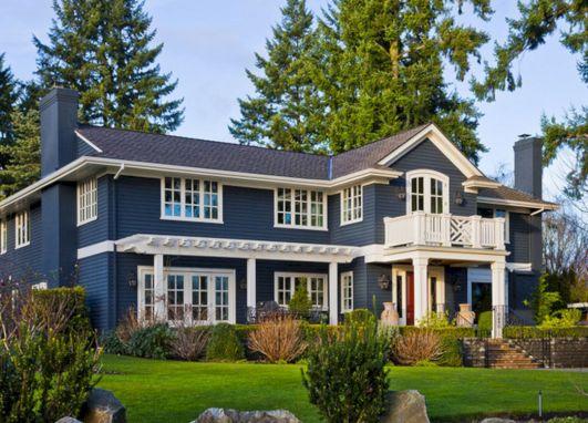 Emejing Blue Exterior Paint Images - Decoration Design Ideas ...