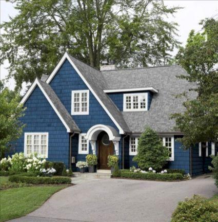 Exterior House Paint Colors Blue White
