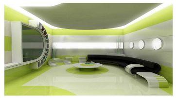 Futuristic Living Room Design
