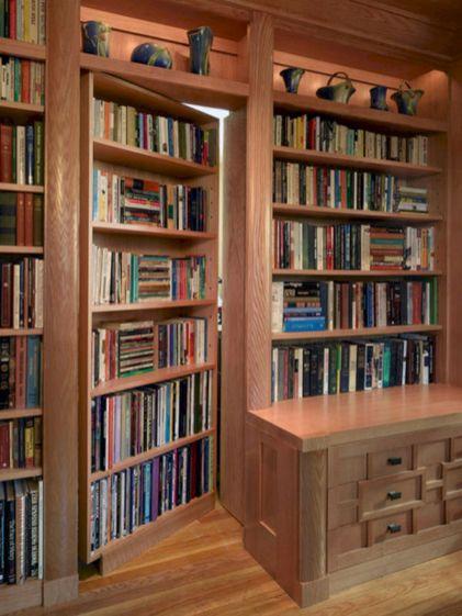 Hidden Bookshelf Door Secret Room