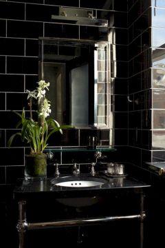 Images Of Black Subway Tile In Bathroom Design