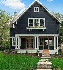 Navy Blue Exterior House Colors