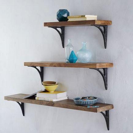 Reclaimed Wood Shelves Brackets
