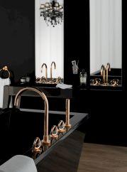 Rose Gold And Black Bathroom Decor