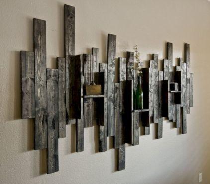 Rustic Wood Wall Art Metal Large