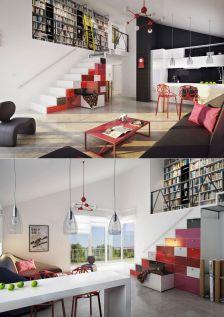 Bright Colorful Loft Design