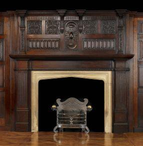 Antique Oak Wood Jacobean Style Arts