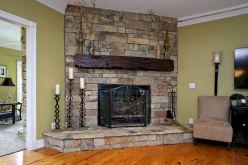 Fireplace Mantel Hand Hewn Beam