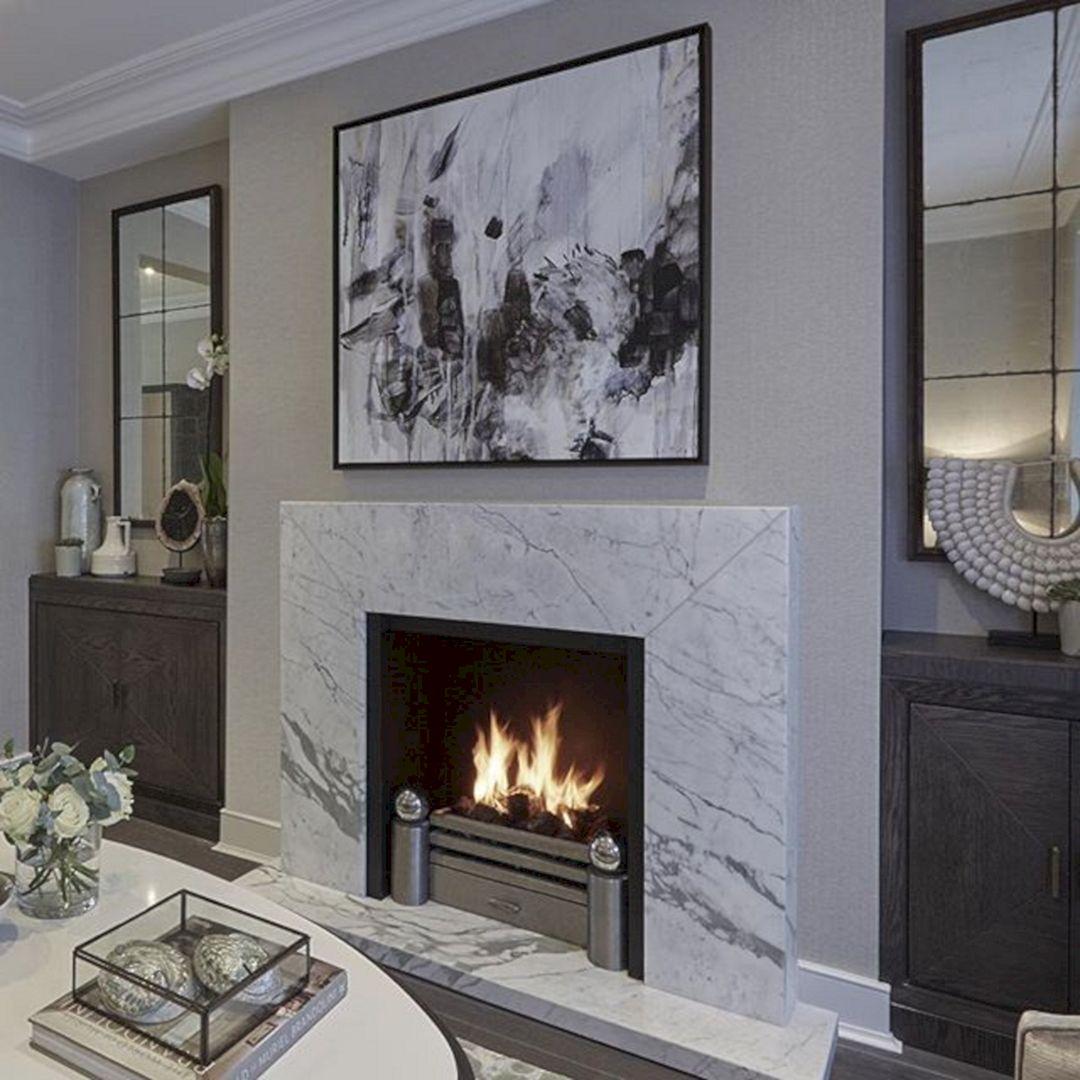 Electrical Home Design Ideas: 45+ Beautiful Contemporary Fireplace Design Ideas