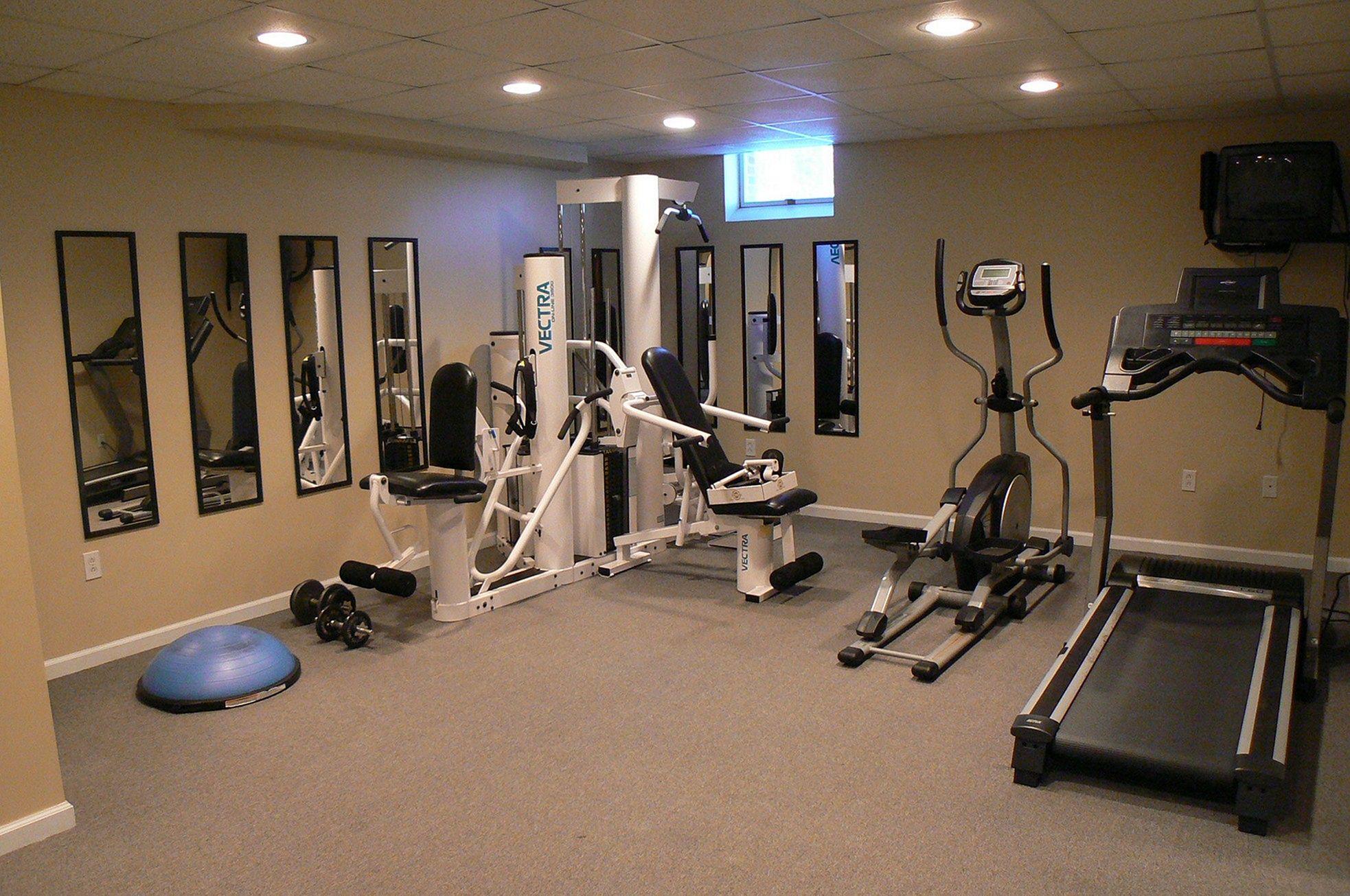 Basement Home Gym Design Idea