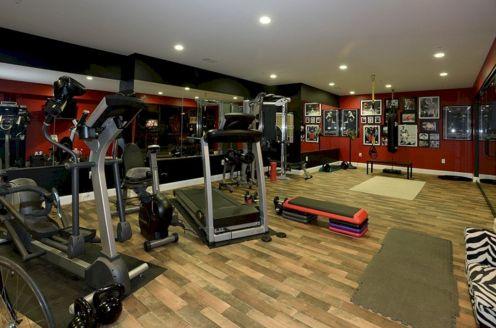 Basement Home Gym Idea