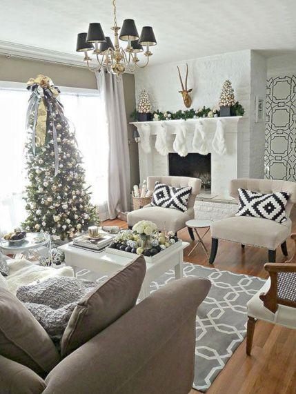 Christmas Living Room Decorating Idea
