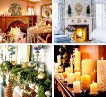 Christmas Mantel Decorating Idea