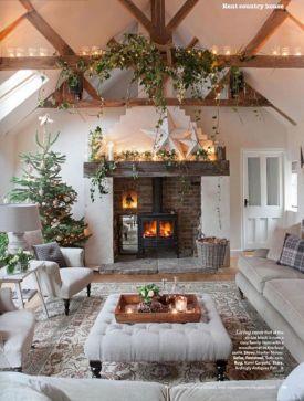 Country Christmas Living Room
