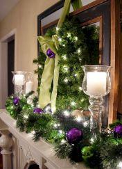 Purple Christmas Mantel Decorating Ideas