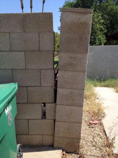 Cinder Block Wall Repair