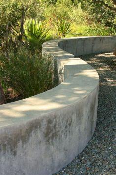 Concrete Sack Retaining Wall Garden