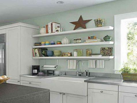 DIY Kitchen Shelves Idea