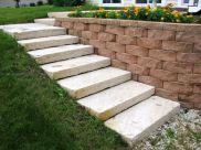 Decorative Cinder Block Retaining Wall