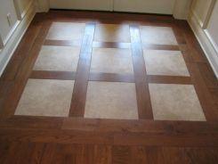 Entryway Flooring Wood Floor With Tile