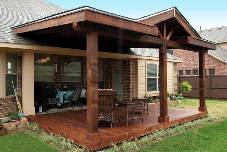 Gorgeous Farmhouse Front Porch Ideas 128 (Gorgeous ... on Patio Covers Ideas  id=49109